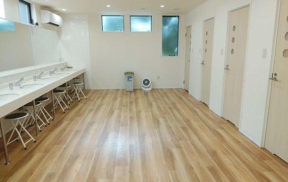 成田ゆめ牧場オートキャンプ場のシャワー室